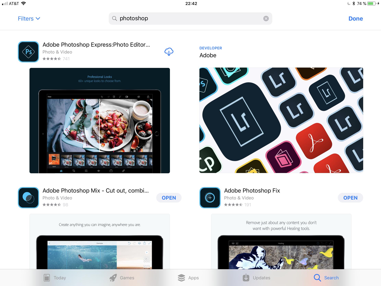 Adobe Photoshop na iPadu