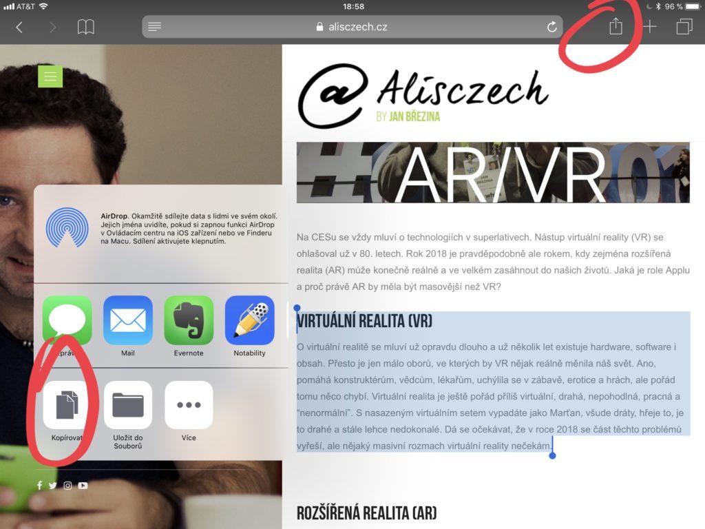 Práce s textem iOS