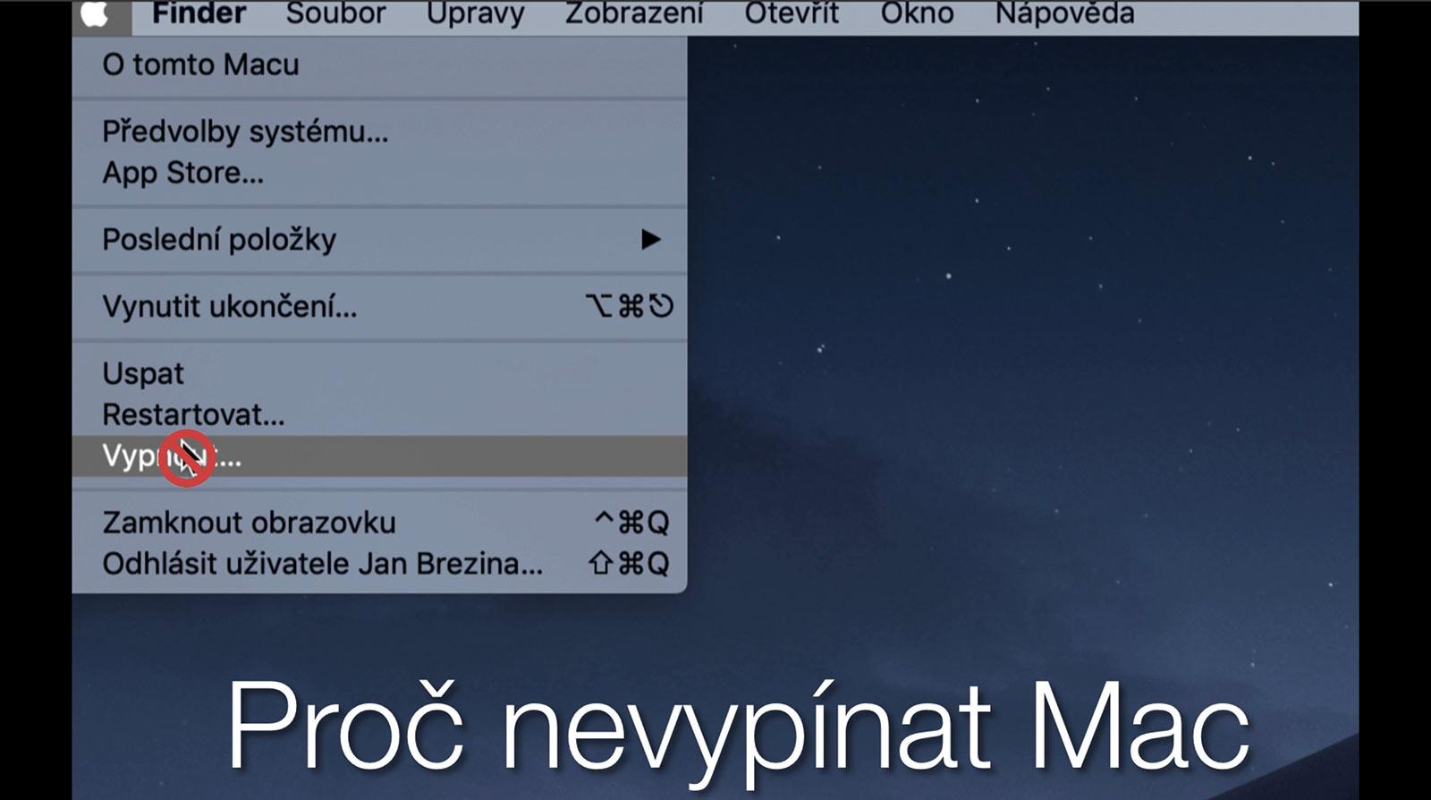 Proč nevypínat Mac