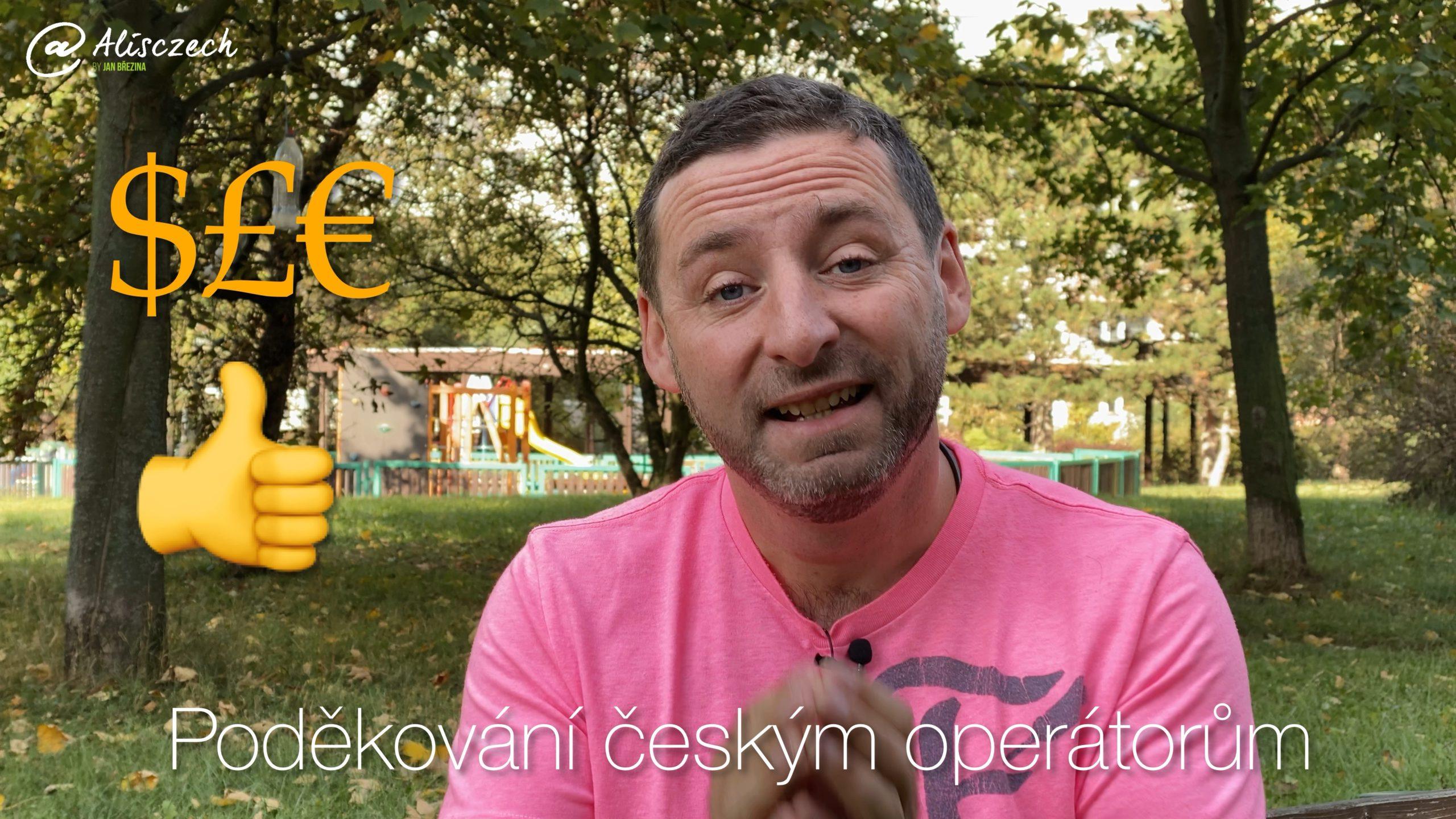 Poděkování českým operátorům