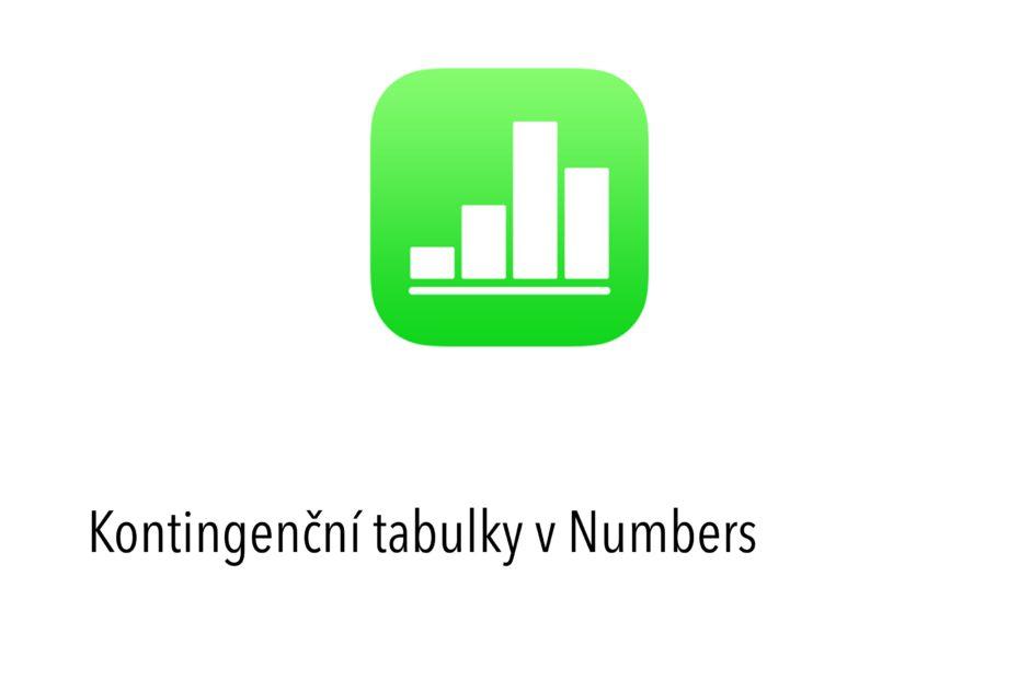 Kontingenční tabulky v Numbers